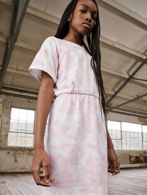 HOLYFIELD Pink Tie Dye Dress