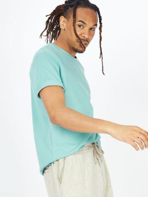 Mint Green Crew Neck Jersey T-Shirt