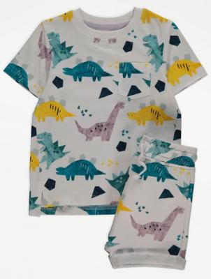 Dinosaur Print T-Shirt and Shorts Outfit