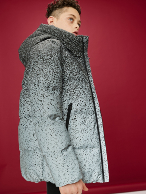 Silver Ombré Reflective Padded Coat