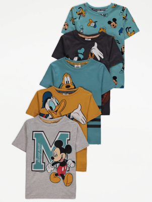 Disney Mickey and Friends T-Shirts 5 Pack