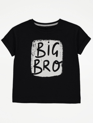 Black Big Brother Slogan Graphic T-Shirt