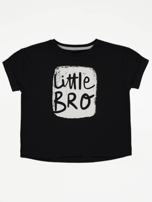 Little Brother Slogan Graphic T-Shirt