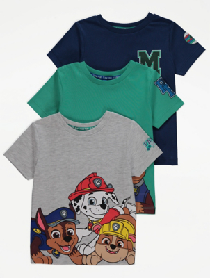 PAW Patrol Character T-Shirts 3 Pack