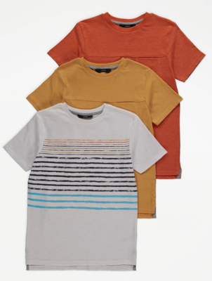 Step Hem T-Shirts 3 Pack