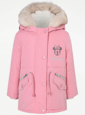 Disney Minnie Mouse Pink Hooded Parka