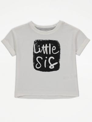 Little Sis Slogan T-Shirt