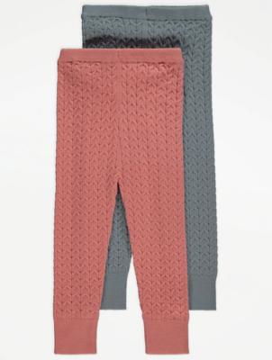 Chevron Knit Leggings 2 Pack