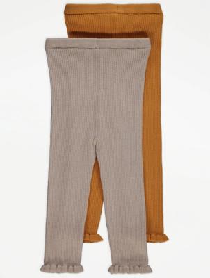 Rib Knit Leggings 2 Pack