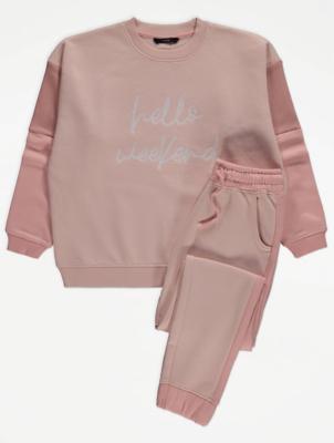 Peach Hello Weekend Loungewear