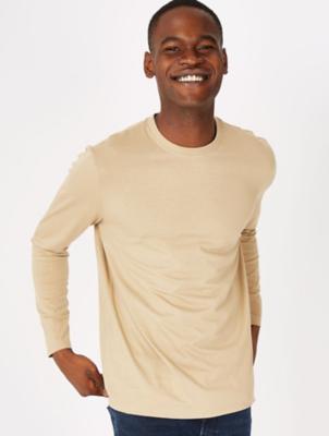 Beige Long Sleeve Top