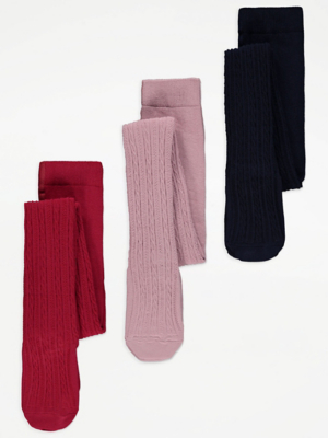 Cable Knit Tights 3 Pack