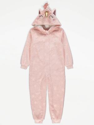 Pink Unicorn Fleece Onesie