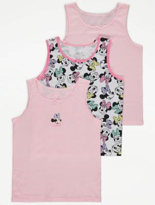 Disney Minnie Mouse Bow Detail Vests 3 Pack