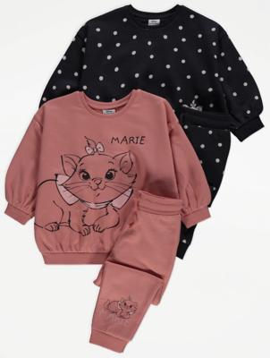 Disney Marie Sweatshirt and Joggers Outfit 2 Pack