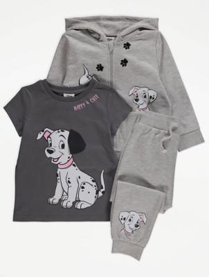 Disney 101 Dalmatians Grey 3 Piece Outfit