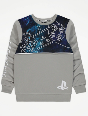 PlayStation Grey Panelled Sweatshirt