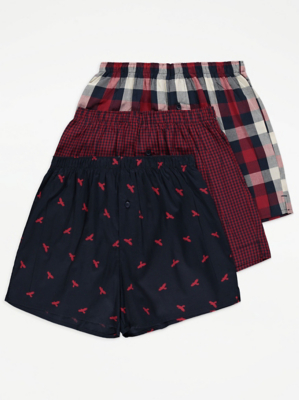 Printed Woven Boxers 3 Pack