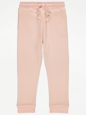 Pink Cuffed Jersey Joggers