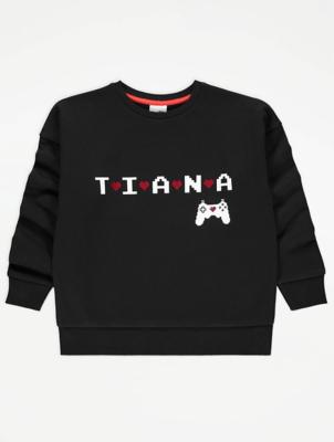 Hearts by Tiana Black Gaming Sweatshirt