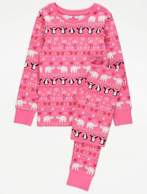 Pink Christmas Pyjamas
