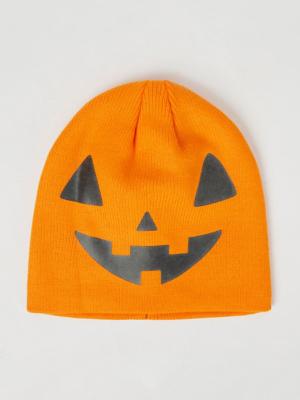 Halloween Orange Pumpkin Beanie Hat
