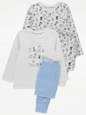 Dog Print Jersey Pyjamas 2 Pack