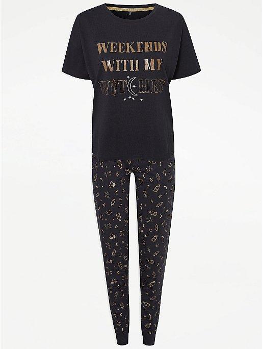 Halloween Witches Black Pyjamas