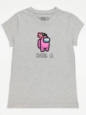 Among Us Grey Graphic T-Shirt
