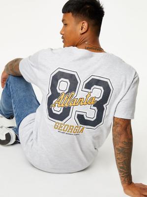 Grey Atlanta Graphic Jersey T-Shirt