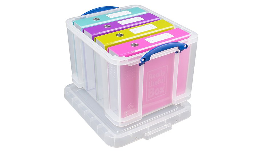 really useful clear storage box 35l home garden george at asda