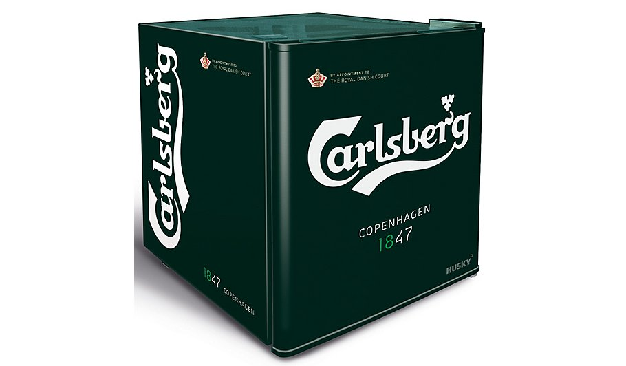 husky hy208 carlsberg mini fridge home garden george. Black Bedroom Furniture Sets. Home Design Ideas