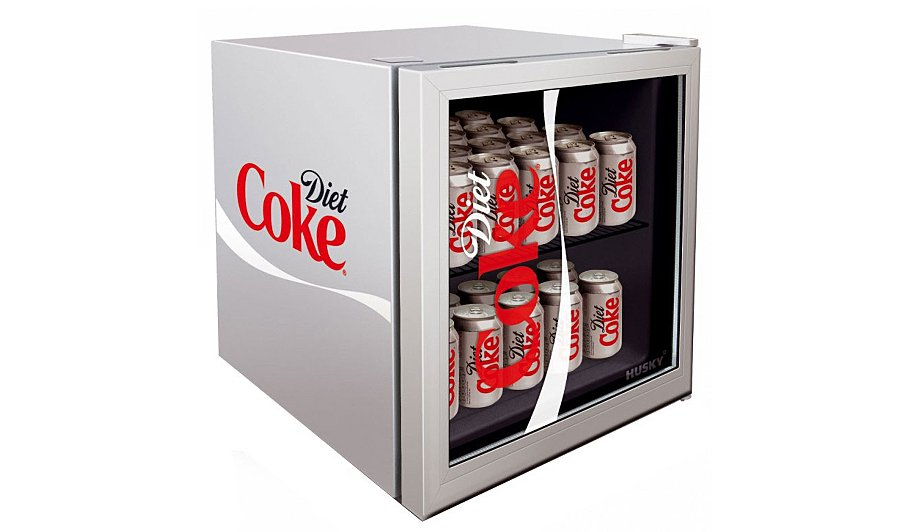 husky hy209 diet coke mini fridge home garden george. Black Bedroom Furniture Sets. Home Design Ideas
