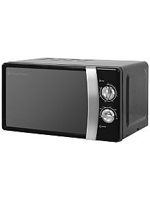 Rus Hobbs Rhmm701 Compact Manual Microwave Jet Black