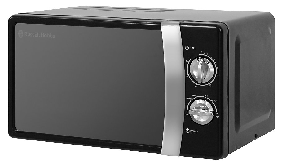 Rus Hobbs Rhmm701 17l 700w Compact Manual Microwave Jet Black Home Garden George At Asda