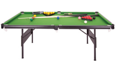 6ft Crucible 2 In 1 Foldup Pool/Snooker Table