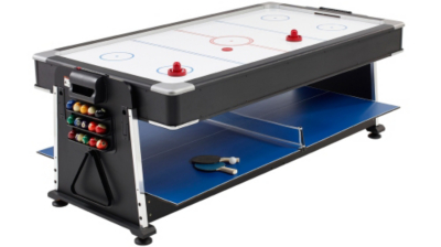 Delightful 3 In 1 Pool/Air Hockey/Table Tennis Multi Game Table
