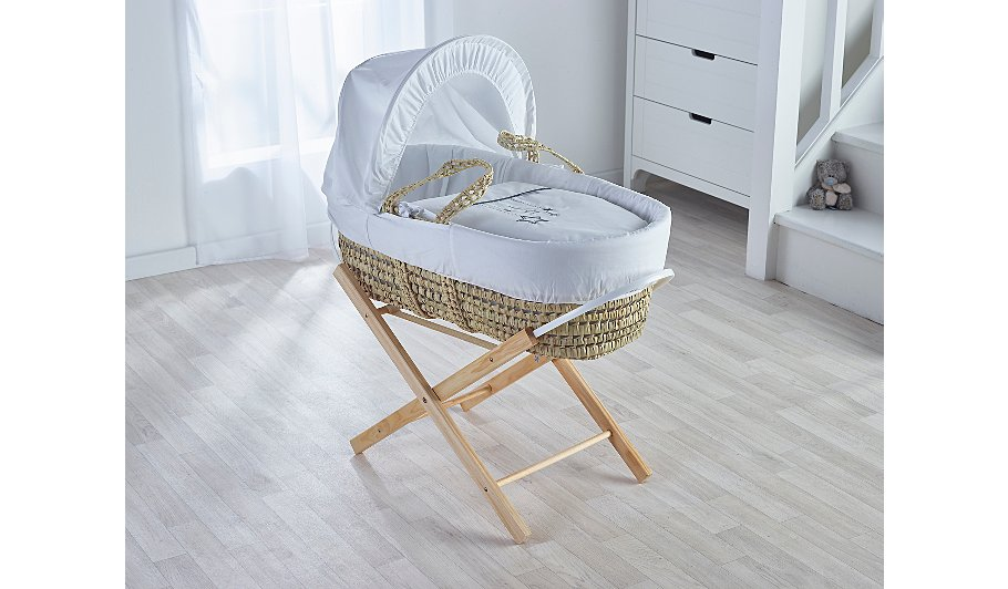 folding moses basket stand baby george at asda. Black Bedroom Furniture Sets. Home Design Ideas