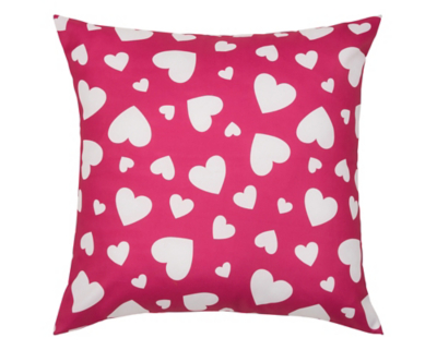 Heart Print Large Floor Cushion