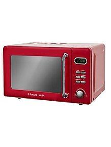 Rus Hobbs Rhretmd706 Digital Microwave Red