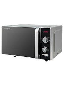 Rus Hobbs Rhfm2001s 19 Litre Silver Flatbed Digital Microwave