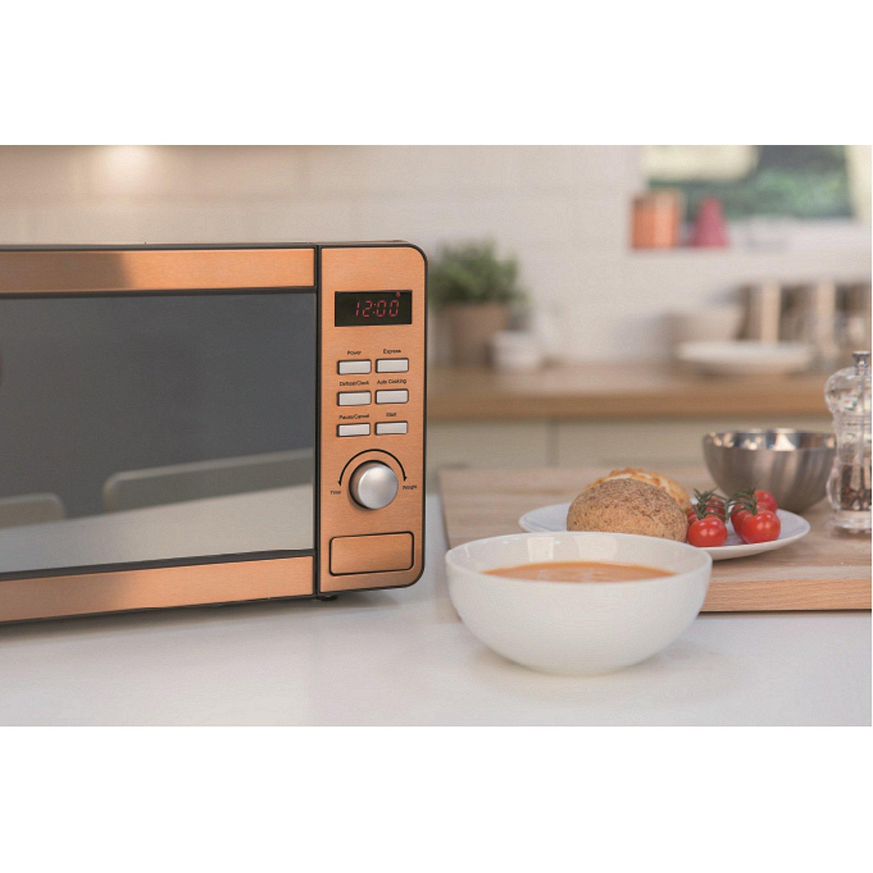 Rus Hobbs Rhmd804cp Copper Digital Microwave Reset