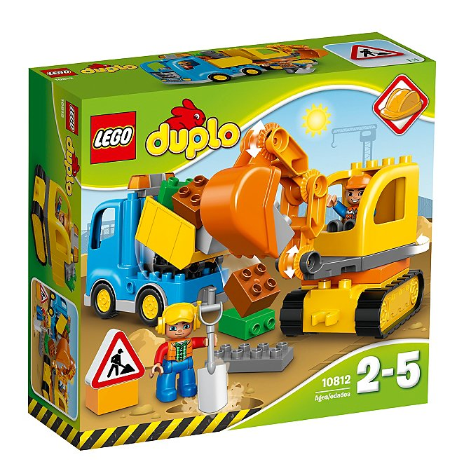 LEGO 10812 Duplo Town Toy Truck and Tracked Excavator Large Building Bricks,...