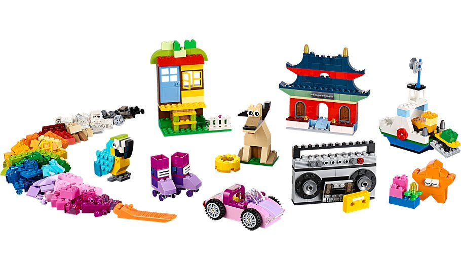 Lego classic creative building set with over 500 pieces for Creative lego ideas