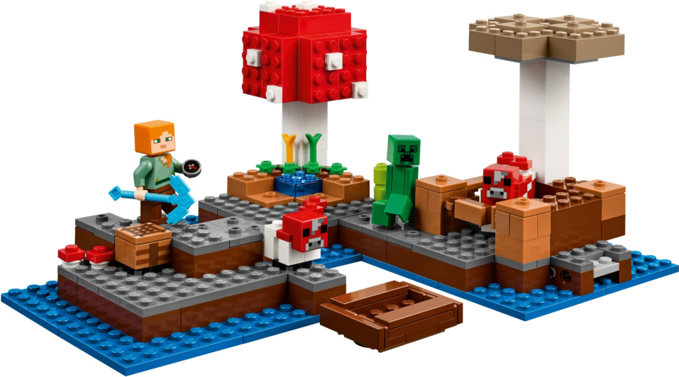 LEGO Minecraft - The Mushroom Island - 21129 | Toys & Character | George
