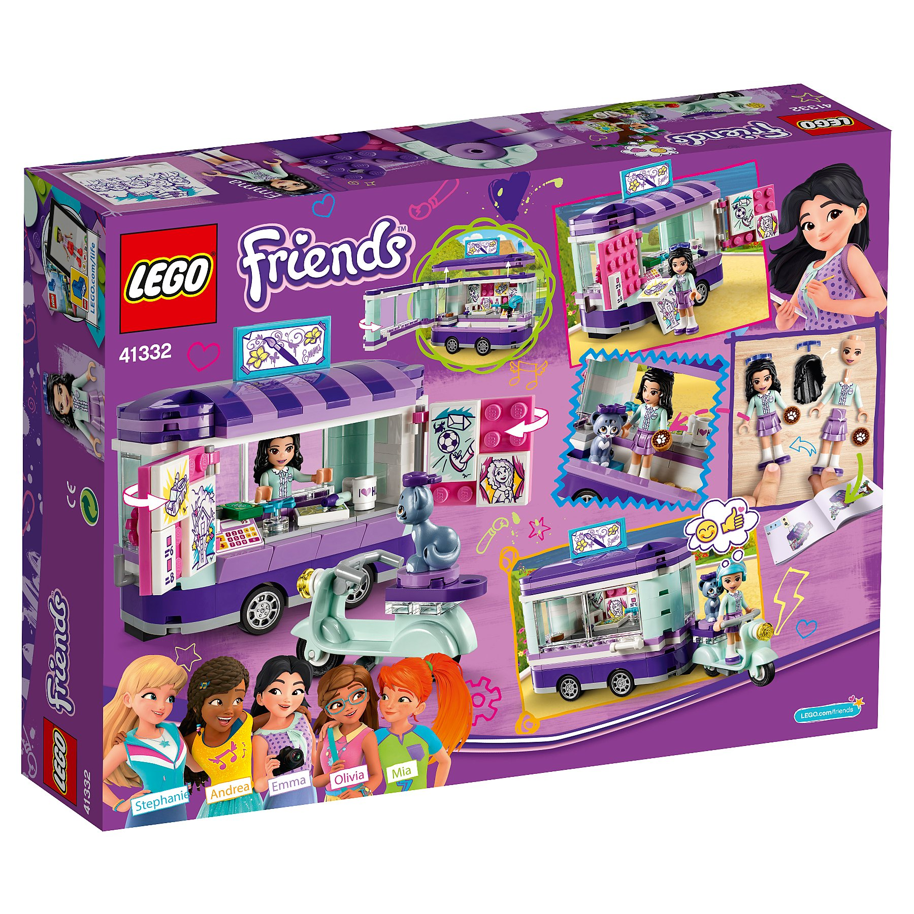 Lego 41332 Friends Emmas Art Stand Trailer Toy Toys Character