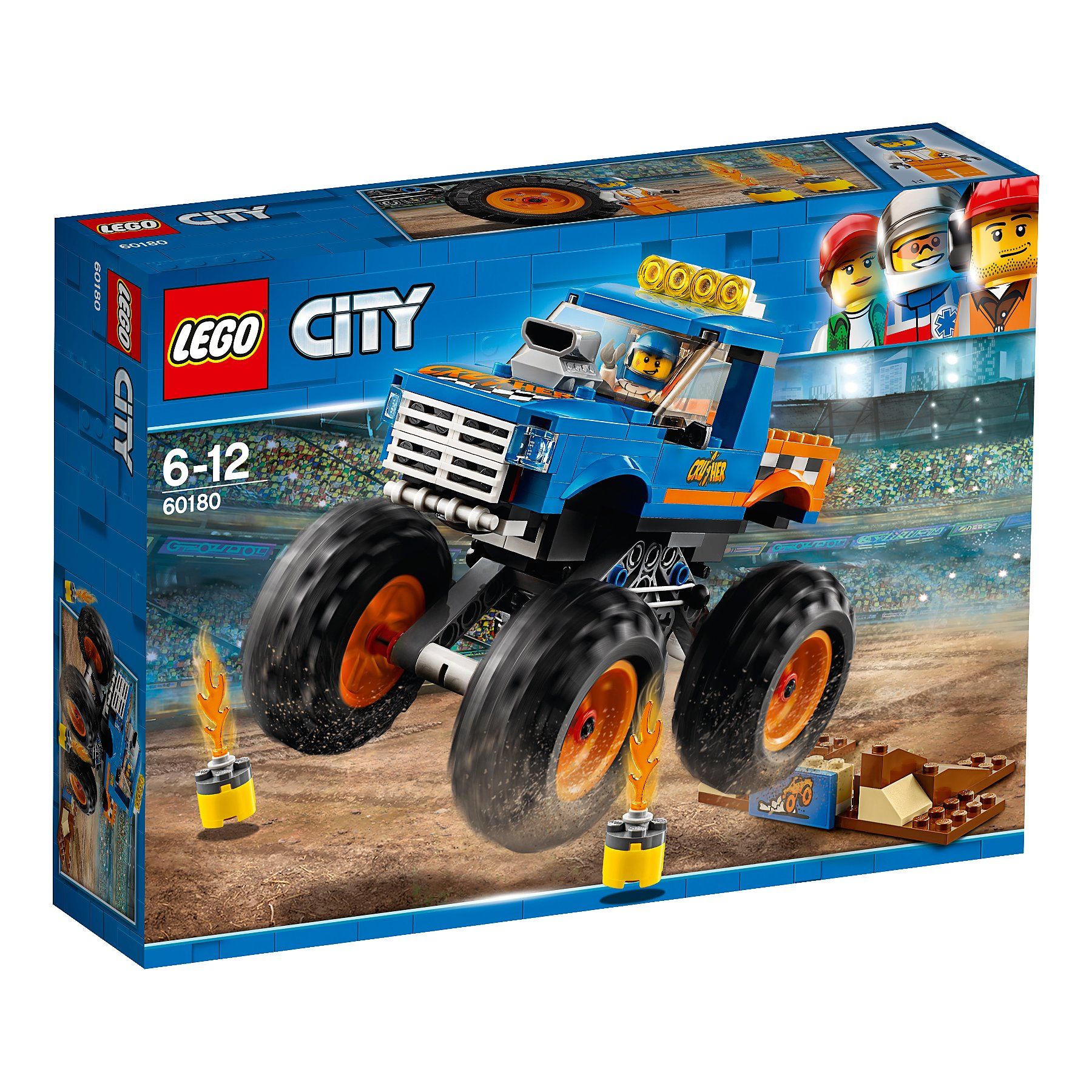 Lego 60180 City Vehicles Monster Truck Playset Toys Character