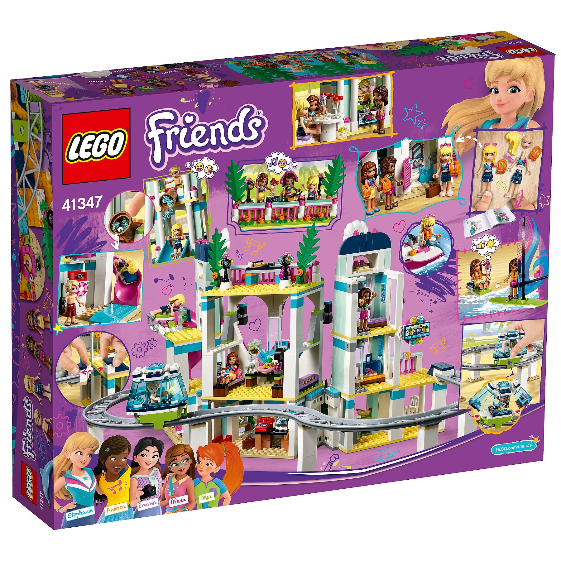 Lego 41347 Friends Heartlake Resort Hotel Toy Toys Character