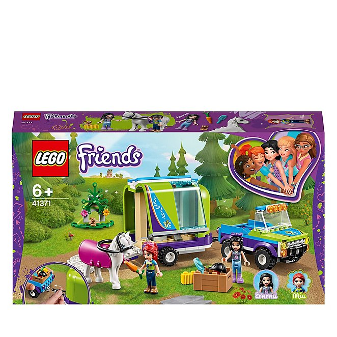 Stable Extension Set LEGO 41371 Friends Mia'S Horse Trailer Toy 4 X 4 Buggy,