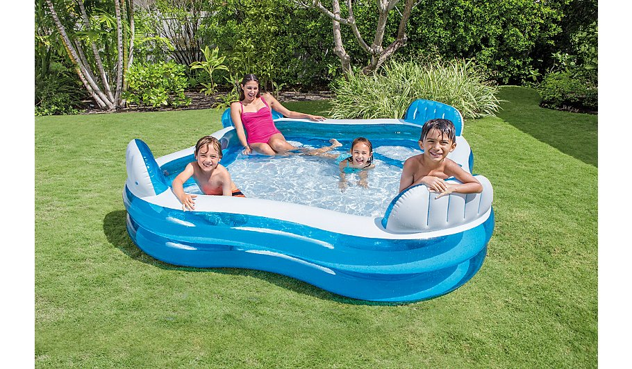 Intex inflatable family lounge pool toys character for Hagebau intex pool